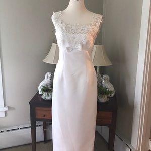 Vintage Eden Satin Wedding Gown Sz 10